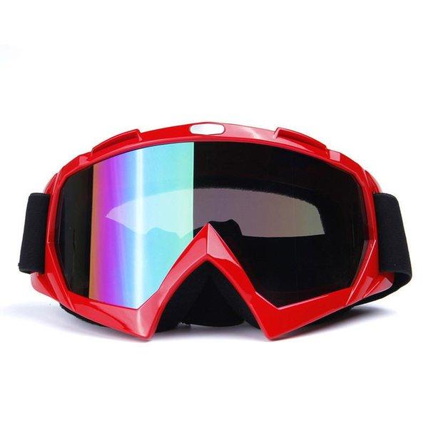 Weimostar Hombres Mujeres Esquí Snowboard Gafas A prueba de viento Gafas de esquí Niños Individual Anti-UV Motocycle Off-road Eyewear Gafas de sol de esquí