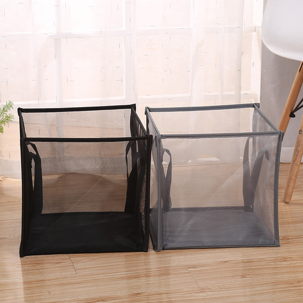top popular Popped Up Collapsible Mesh Laundry Hamper Dirty Laundry Sorter Mesh Basket with Handles KD0805M 2019