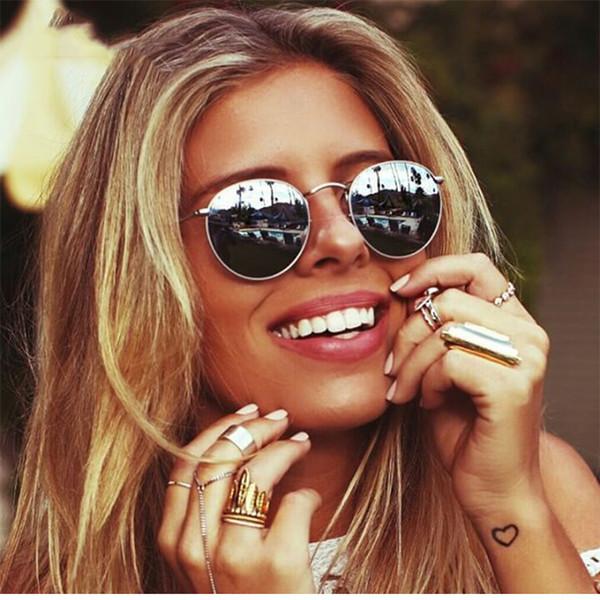 2019 Классические Маленькие Рамки Круглые Солнцезащитные Очки Женщины / Мужчины Марка Дизайнерское Зеркало Сплава Солнцезащитные Очки Vintage Modis Oculos