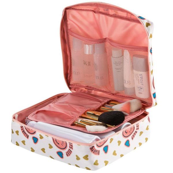 Trousse de maquillage design Voyage Femmes Sac à cosmétiques trousse de toilette portable Organisateur multifonction Trousse de maquillage imperméable Fermeture éclair Maquillage Beauté Stockage