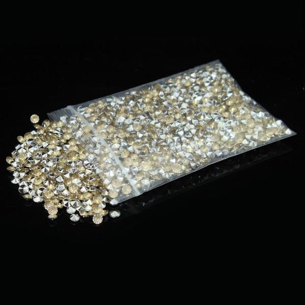Confetti-Kanone 2000pcs / lot silberner Champagne-Acrylkristalldiamant Confetti-Hochzeitstafel-Dekoration-hohe Klarheit Freies Verschiffen