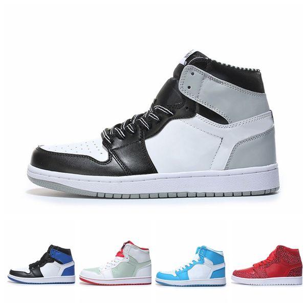 2019 NUEVO 1 High Spider Man Zapatos de baloncesto 1S Chicago Crystal Gym Rojo Retro Foto Azul moda de lujo para hombre mujer diseñador sandalias zapatos