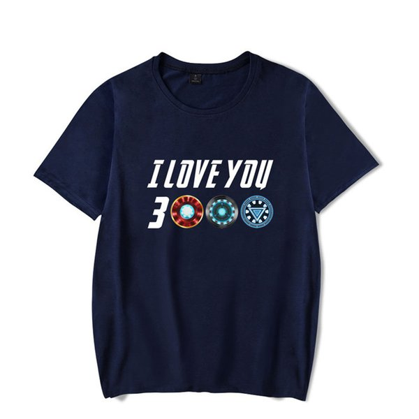 Men T-Shirts I Love You 3000 Three Thousand Times Awesome Cotton Tees Avengers Endgame T Shirts Iron man Clothing Plus Size Z8