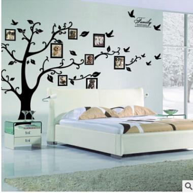 DIY Photo Tree Wall Stickers Creative Photo Frame 3D Self Adhesive Family  Wall Sticker Living Room Television Wall Decal Home Decoration Sticker ...