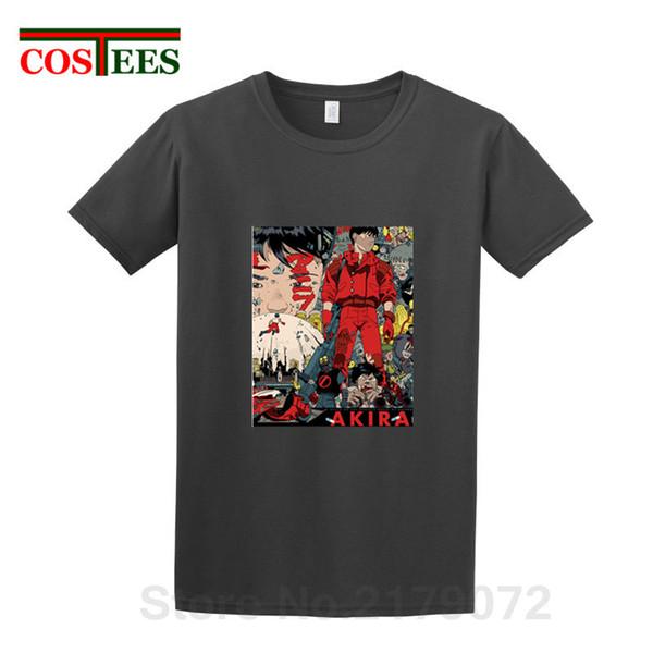 Japan-Stil große Manga Capsule Gang T-Shirt Männer Vintage Anime Neo Tokyo Akira Motorrad T-Shirt Mann lustig Cartoon Retro-T-Shirt