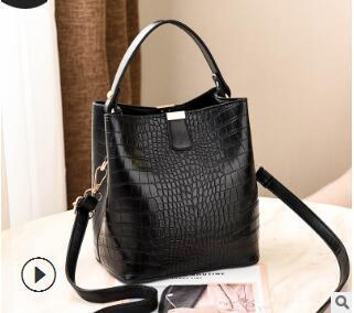 Frau Tasche 2019 neue einfache Mode koreanische Bord Eimer Frau Tasche Hand Konnossement Umhängetasche Trend Joker Hersteller Großhandel