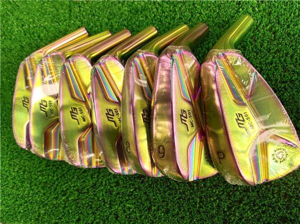 7 ADET Golf Kulüpleri MiURA MG MC-501 Dövme Ütüler Aaron MiURA Golf Dövme Ütüler 4-9Pw Çelik Mil Ile Baş Kapak