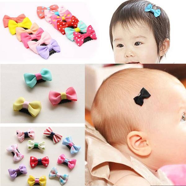 10Pcs/Pack newborn Baby Girls Scarce hair Lovely Clips Bowknot Hairpin Kid Hair Accessories Children mini Hair clip