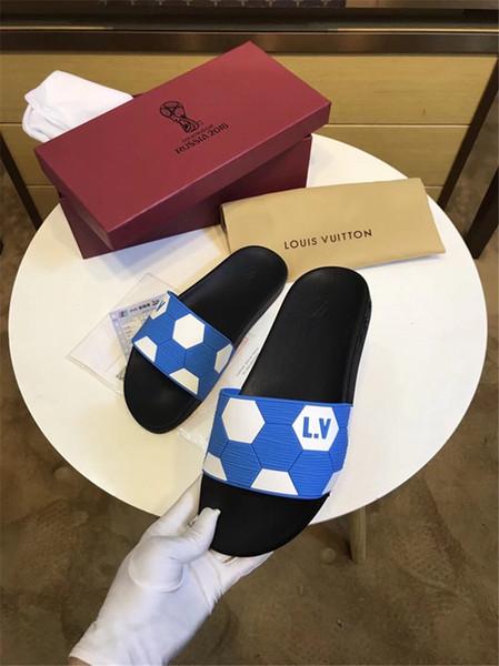 Hot Sale Fashion Luxury slide sandals slippers for men WITH ORIGINAL BOX Designer beach flip flops slipper BEST QUALITY