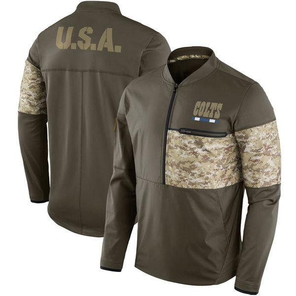 reputable site 4fe3e 8e690 2019 Indianapolis Colts & Houston Texans Salute To Service Sideline Hybrid  Half Zip Pullover Jacket Olive From So_good001, $32.49 | DHgate.Com