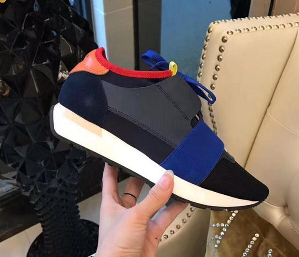 Yeni Popüler Tasarımcı Yüksek Kalite Adam kadının Moda Düşük Kesim Dantel Up Nefes Örgü Sneaker Ayakkabı Açık Havada Yarış Rahat Ayakkabı 6fgd