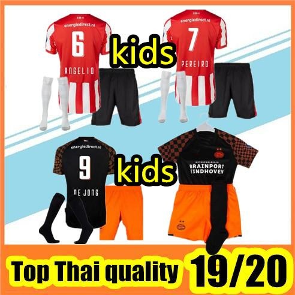 2019 2020 Eindhoven kids KIT Trikot Unterhemd Pereiro Hendrix DE JONG MAXI H.Lozano BOYS CHILDREN Fußballtrikot Heimtrikot