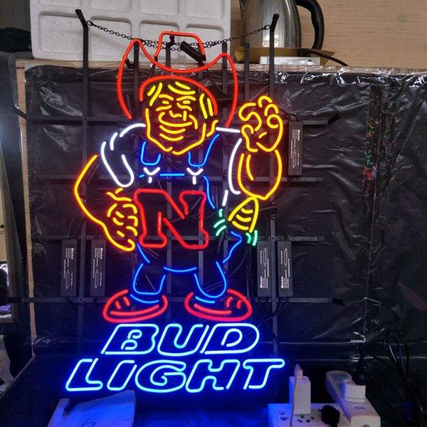 Anpassen BUD LIGHT Leuchtreklame Licht Werbung Bar Entertainment Club Dekoration Kunst Display Echtglas Lampe Metallrahmen 17 '' 24 '' 30 ''40' '