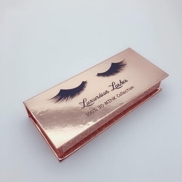 Lüks Yanlış Kirpik Paketi Kutusu 3D Vizon Kirpik ambalaj kutusu özel Sahte göz lashes kirpik ambalaj kutusu kasa Kozmetik paketi