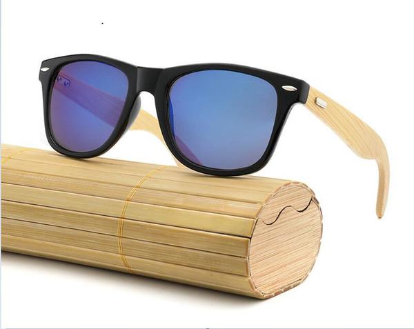 HDCRAFTER Luxury Designer Best seller Sunglasses Bamboo frame Female Ladies Color plating film Anti-Glare outdoor Trend Sun glasses,Gift box