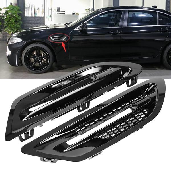 1 Paar Auto Seitenluftstrom Kotflügel Vent Grills Left Right Aufkleber für BMW M5 F10 F18 2010 2011 2012 2013 2015 2016