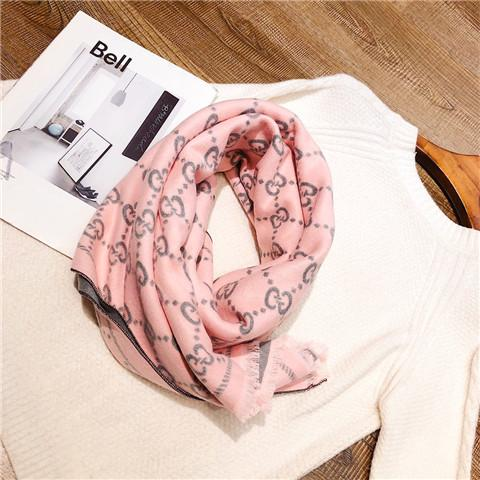 2018 Women's Scarf Brand F Letter Luxury Design winter Cashmere Shawl Knit Long Soft warm woolen Scarves Wrap gift 180*75cm