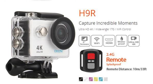 Original EKEN H9 H9R with remote control Ultra HD 4K WiFi HDMI 1080P 2.0 LCD 170D pro Sports camera waterproo 2PCS