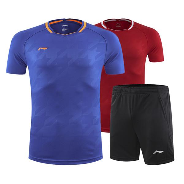 New Li Ning Badminton T-shirt, Men + Women Tennis T-shirt, National Team Badminton T-shirt, Quick Dry Sportswear, Table Tennis, Free Shippin