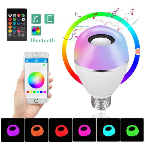 8W B22 / E27 LED RGB senza fili di musica di Bluetooth gioco dell'altoparlante della lampada della lampadina + Remote