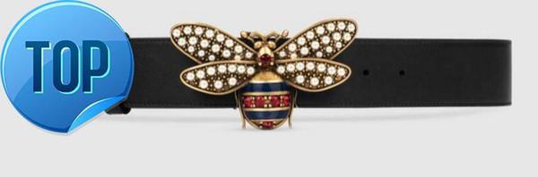 Queen Ledergürtel Sylvie Webgürtel mit Biene Snake Dragon Tiger Head Feline Offizieller Echtleder Damengürtel