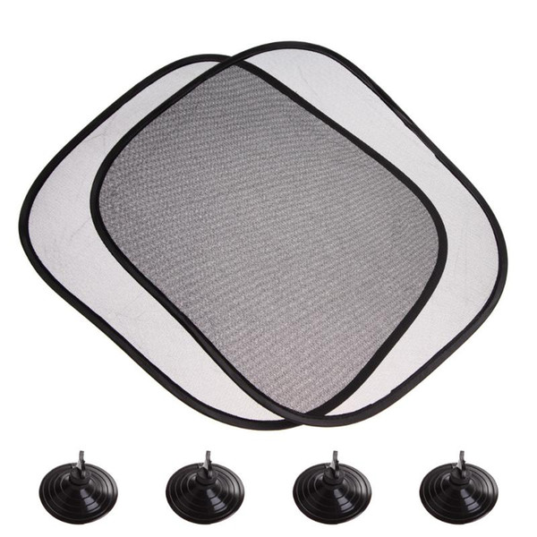 1Pair 44*36cm Black Car Sun Shade Side Rear Window Glass Sunshade Cover Visor Shield Screen Solar Protection