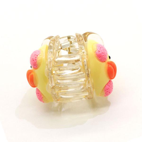 Clip di capelli bocca rossa della Cina Yiwu plastica pollo giallo Uccello decorativo artigli capelli del bambino dei capelli accessori della decorazione 10pcs / bag