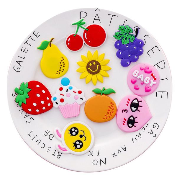 1PCS fruta dos desenhos animados Ímã Imã Mini Magnetic Buckle Sticker imãs Fontes Fixas