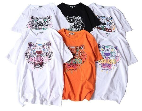24 Color Summer Designer T Shirts For Men Tops Tiger Head Letter Print T Shirt Mens Clothing Brand Short Sleeve Tshirt Women Tops S-XL