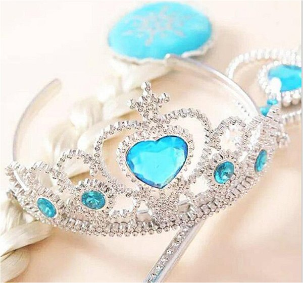 frozen movie crown suit snow princess crown magic wand wig dice three-piece party hats for kids party supplies