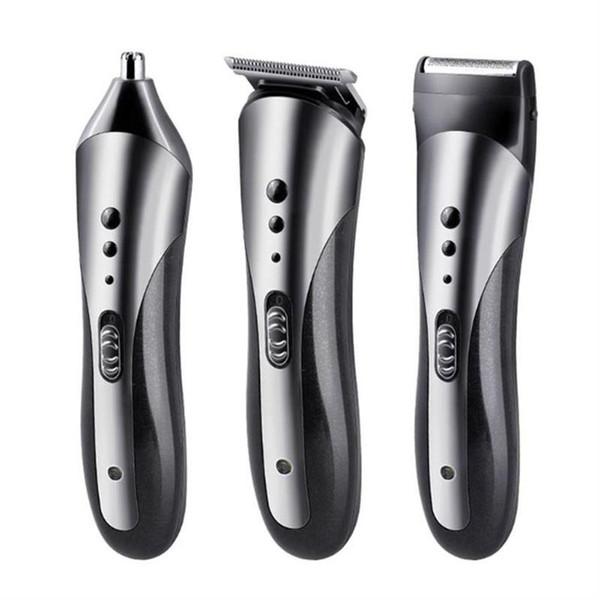 3 в 1 Машинка Для Стрижки Волос Аккумуляторная Электрическая Бритва Уха Бритвы для Стрижки Волос Профессиональная Электрическая Бритва Борода Бритвы
