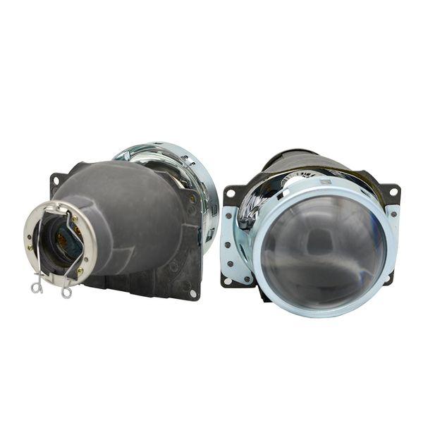 2 pcs 3.0 inch H7Q5 Bi xenon Hid Projector Lens Metal Holder shrouds mask H7 Xenon Kit bulb lamp Headlight car assembly Modify