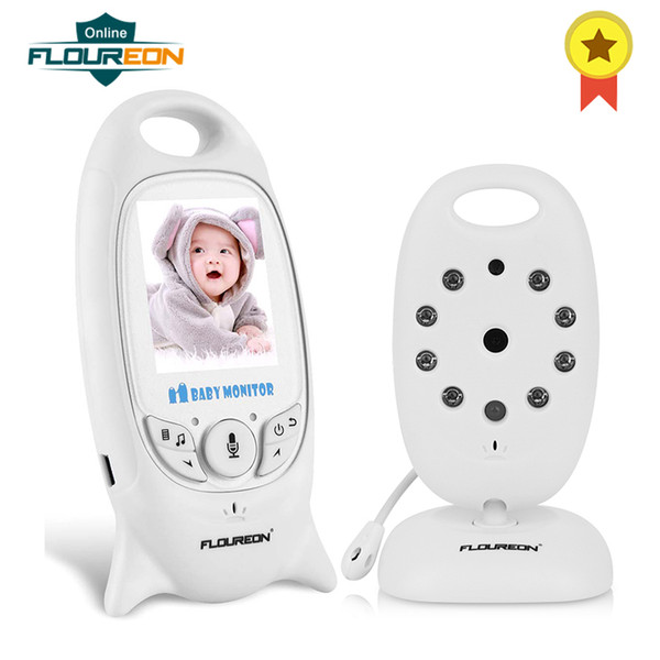 FLOUREON Digital Wireless 2.4 GHz Baby Monitor IR LCD Video Nanny Security Camera Temperature Display 2 Way Talk Night Vision