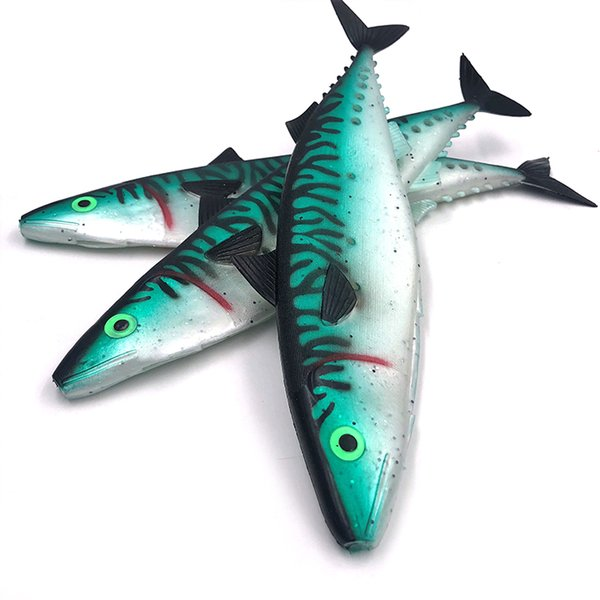 Free Shipping hollow mackerel big fishing lures soft plastic fish skin fishing tackle giant tuna and marlin lure