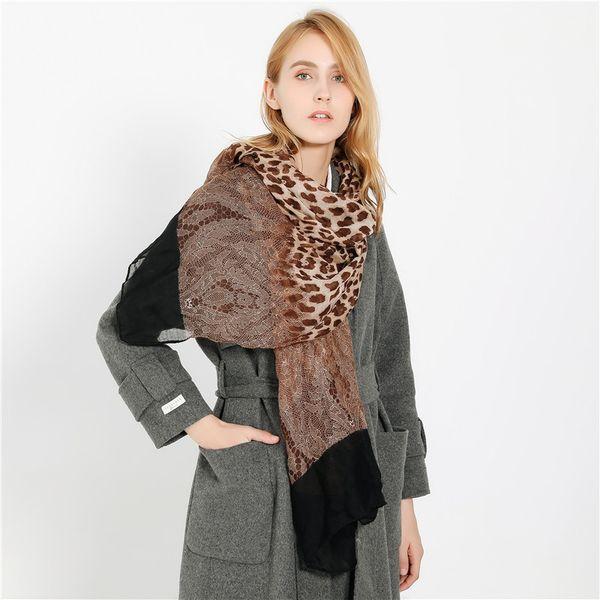 Hot New Fashion Sexy Personality Leopard Print Scarf Women Soft Yarn Sunscreen Sun Chiffon Lace Scarfs Wrap Shawl Dropshipping