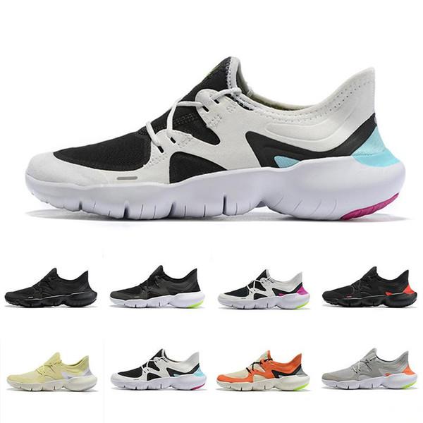 2019 Free RN 5.0 Zapatillas de running para hombre Zapatillas de deporte de diseñador de moda masculina Summer Cool Breathable RUN Women Lightweight Knit Shoes 36-45