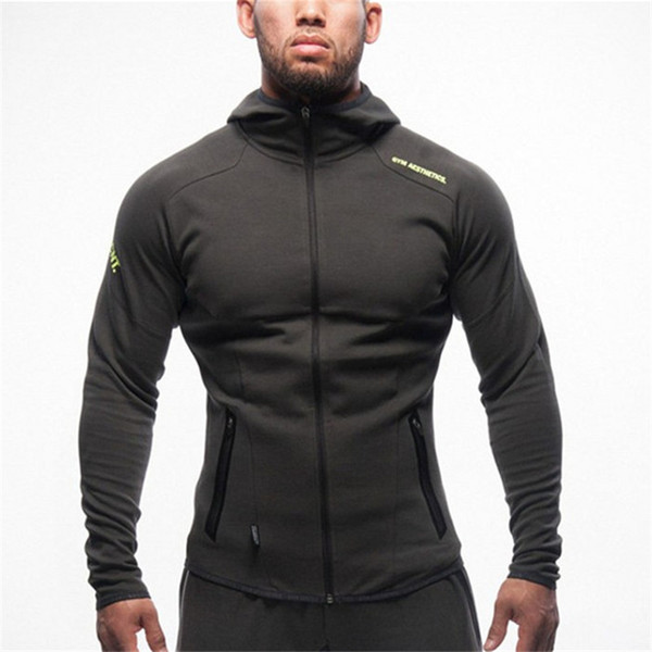 Hot 2019 Nouvelle Lettre Imprimer Sweat Hommes Hoodies Mode Solide Sweat À Capuche Hommes Pull Hommes Fitness Sweat À Capuche Manteaux