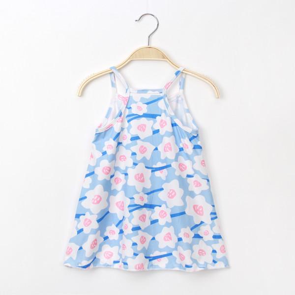 Little Girls Cotton Dress Slip Dresses Sleeveless Casual Summer Striped Printed Floral Shirt For Baby Girls Big Kid Leisure Wear