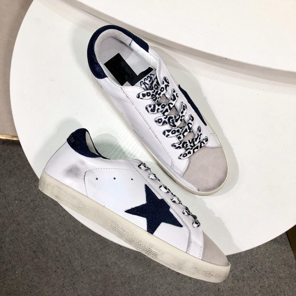 économiser ba3ea fde1a Italy Genuine Leather Golden Brand Sneakers SUPERSTAR STARTER Chaussure  Femme Homme Sneakers Leopard Suede Glitter Star 35 40 Yellow Shoes Gold  Shoes ...