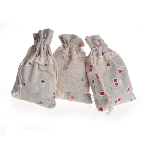 50 pcs sace lace cotton linen drawstring pocket jewelry bag bundle pocket jewelry bracelet gift bag