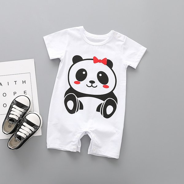 2019 New Baby Girl And Boy Romper O-Neck Kids Rompers Pullover New Born Baby Clothes Cute Unisex Boys And Girls Summer Clothes