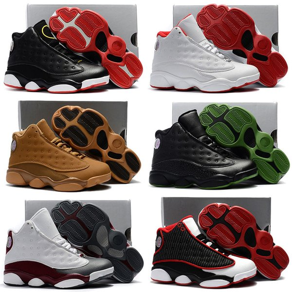 best selling Boys Girls Jumpman 13 Retro Basketball Childrens J 13s Pack Playoff Shoes Toddlers Birthday Gift Youth Kids Sports 28-35