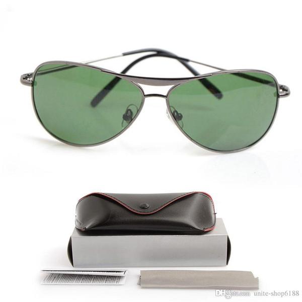 10PCS New Mans Brand Designer Sun glasses Glass lens Unisex glasses Classic UV400 protection Sunglasses Brand Womans glasses with cases boxs