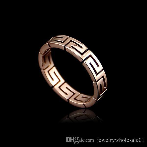 USpecial Gift Classic Luxury Rose Gold titanium steel Rings Top Quality Genuine crystal, romantic hand made fashion jewelry ring for women