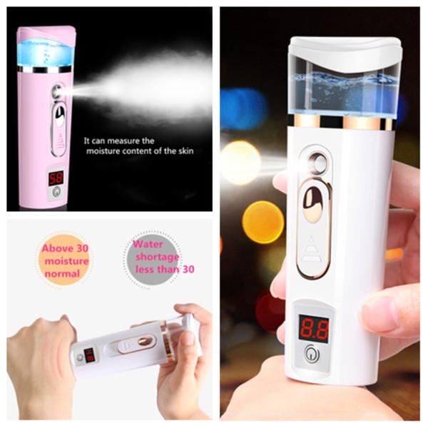 Hot USB charge Nano humidité instrument de mesure humidificateur mode Facial Steamer atomiseur facial beauté hydratant instrument T2I5166