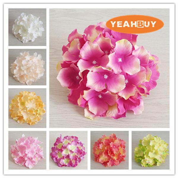 20COLORS DIA 20cm artificial large hydrangea flower head diy wedding wall arch bouquet decoratve flowers home decoration