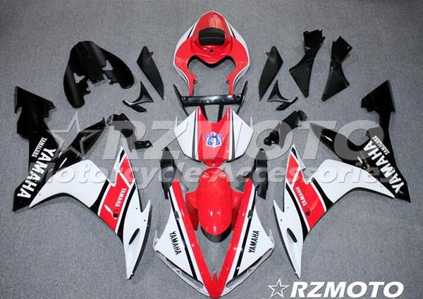 Nuovi kit carenatura completa ABS di qualità OEM adatti per YAMAHA YZF R1 04 05 06 YZF1000 2004 2005 2006 R1 Set di carrozzerie Custom Free Red White