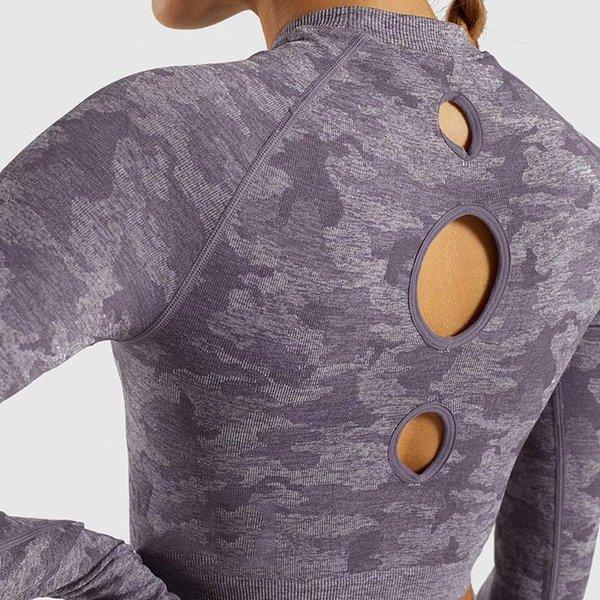 camisa púrpura Yoga