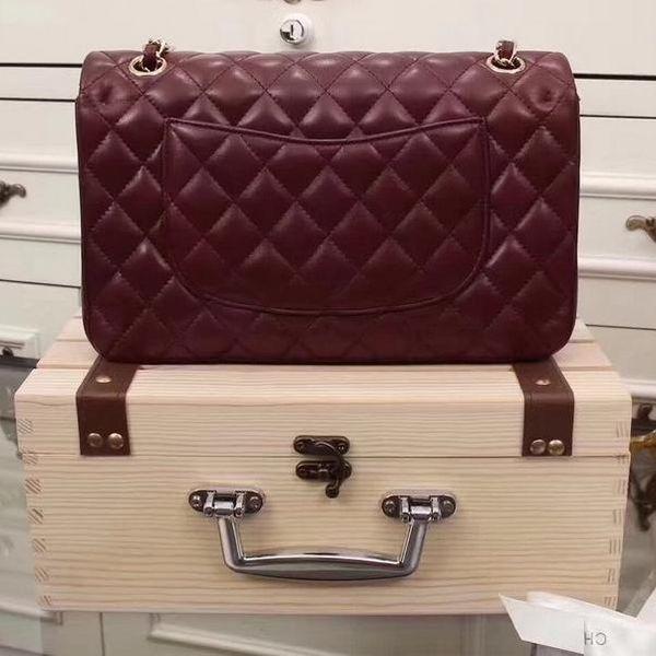 SXCF Luxury Classical Woc Bag Wallet On Chain Women Genuine Patent leather Mini Flap Messenger Bags Designer Handbags 33814