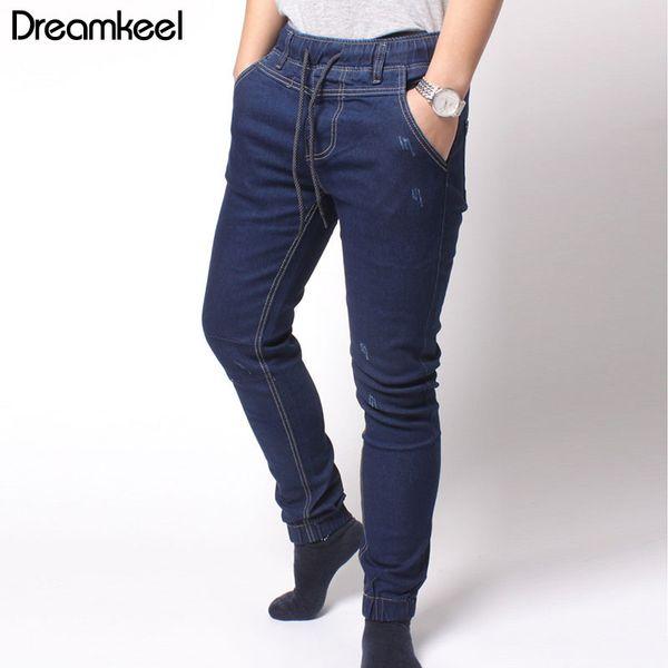 Men Clothes 2019 Fashion Men Jeans Washed Denim Pants Hip Hop Sportswear Elastic Waist Joggers Pants Ripped Jeans For Y